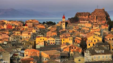 Korfu esti városnézés, vacsorával